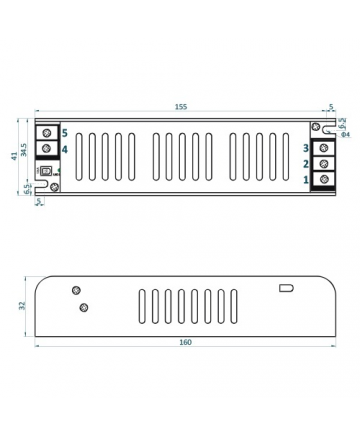 Τροφοδοτικό LED IP20 80W ADLS-80-12