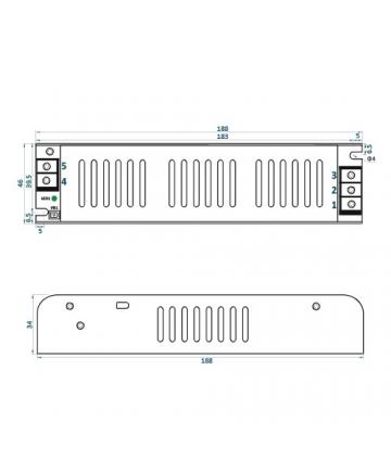 Τροφοδοτικό LED IP20 100W ADLS-100-12