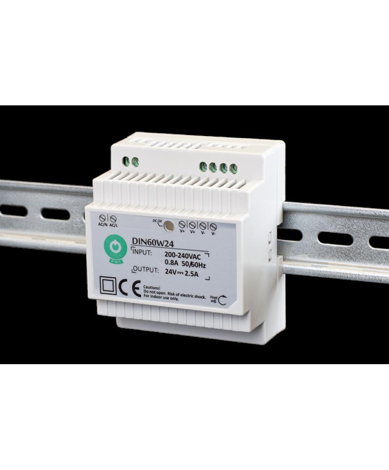 Τροφοδοτικό ράγας LED 24V 60W POS