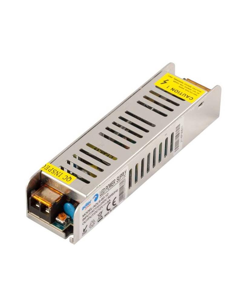 Τροφοδοτικό LED IP20 60W ADLS-60-12