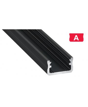 Προφίλ αλουμινίου LED EL Surface A Μαύρο