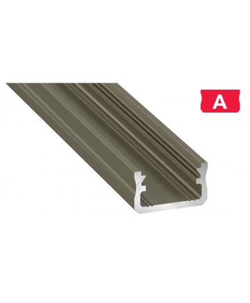 Προφίλ αλουμινίου LED EL Surface A INOX