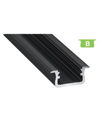 Προφίλ αλουμινίου LED EL MORTICE B Μαύρο