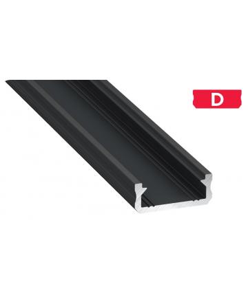 Προφίλ αλουμινίου LED EL MICRO D Μαύρο