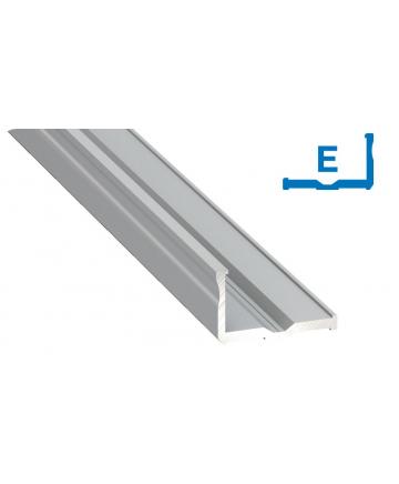 Προφίλ αλουμινίου LED TYPE E Silver