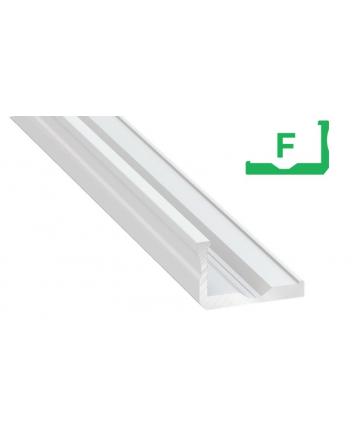 Προφίλ αλουμινίου LED TYPE F Λευκό