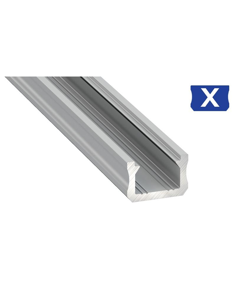 Προφίλ αλουμινίου LED EL SLIM X Ανοδιωμένο
